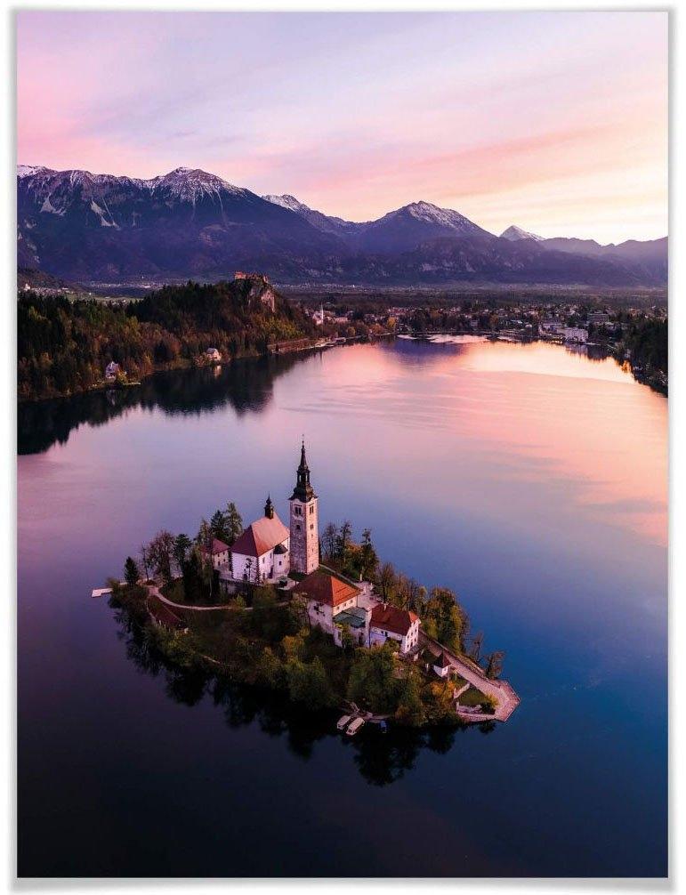 Wall-Art poster Bleder meer Slovenië Poster, artprint, wandposter (1 stuk) in de webshop van OTTO kopen