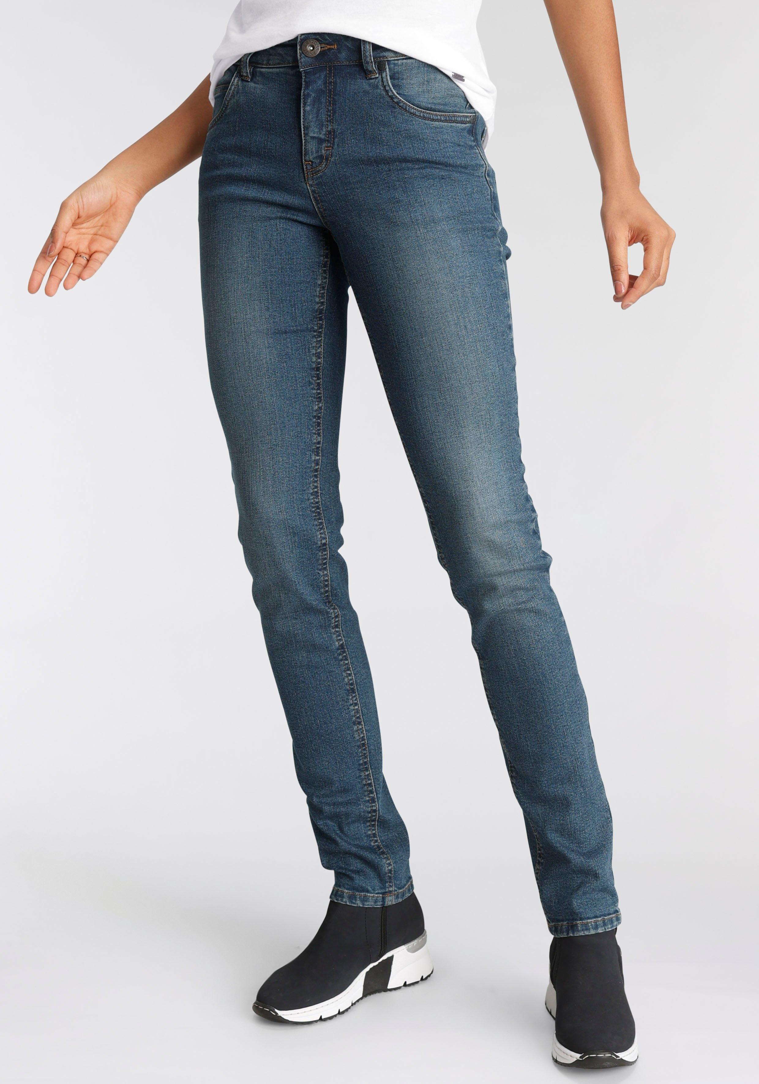 Arizona Slim fit jeans Svenja - band met opzij elastische inzet High Waist - verschillende betaalmethodes