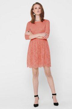 only kanten jurk »onledith« roze