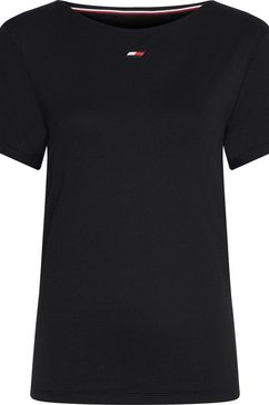 tommy sport functioneel shirt zwart