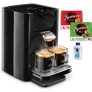 philips senseo-koffiepadautomaat hd7865-60 quadrante, met coffee boost, xl waterreservoir, zwart zwart