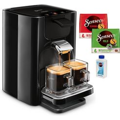 philips senseo-koffiepadautomaat hd7865-60 quadrante, met coffee boost, xl waterreservoir, zwart