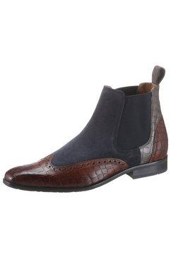 melvin  hamilton chelsea-boots rico 12 duurzaam met hand-finish bruin