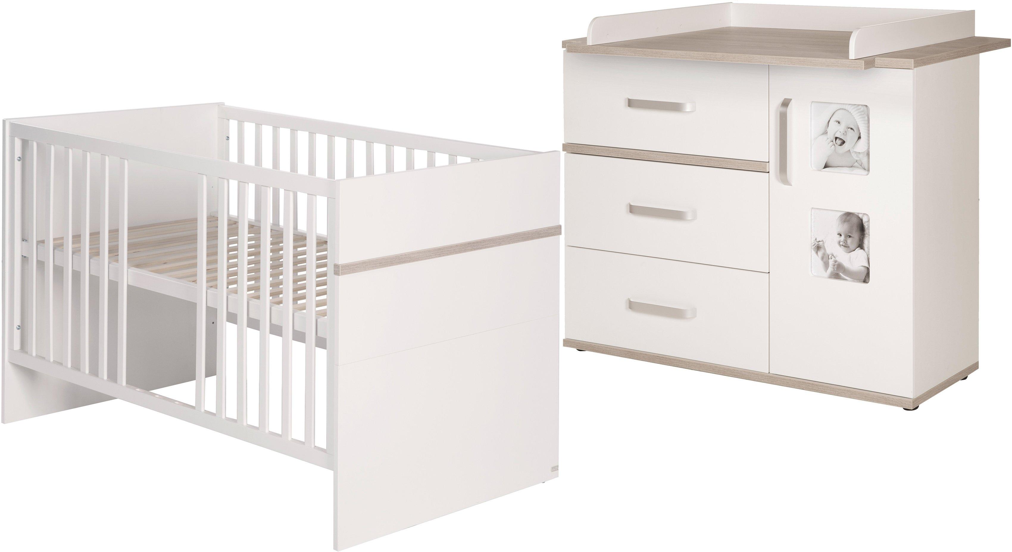 Roba babymeubelset Moritz met kinderbed en commode; made in europe (voordeelset, 2 stuks) nu online kopen bij OTTO