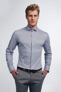 eterna businessoverhemd slim fit lange mouwen blauw