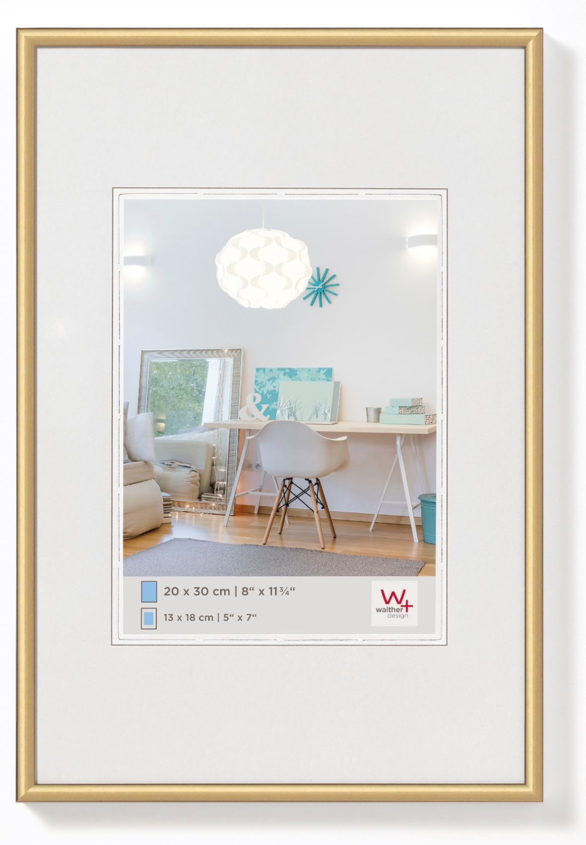 Walther New Lifestyle Fotolijst Fotoformaat 70x100 cm Goud online kopen
