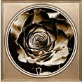 queence artprint op acrylglas »rose« goud