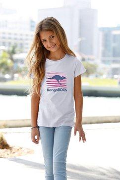 kangaroos t-shirt wit
