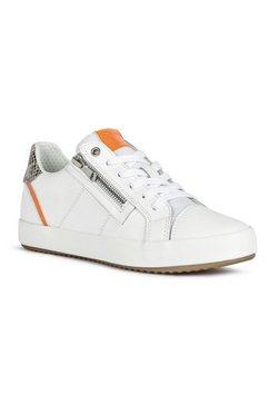 geox sneakers met ritssluiting opzij wit