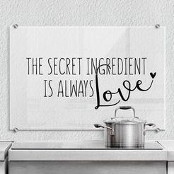 "wall-art keukenwand ""the secret ingredient is love"", (1-delig) multicolor"