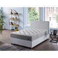 i̇sti̇kbal pocketveringsmatras new active life bronskleur oase van comfort in iedere slaaphouding - luxueuze bekleding met lurex-draden hoogte 26 cm wit