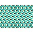 queence set placemats ps0104 (set, 4 stuks) blauw
