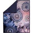 hip plaid bjirke met mandala en olifant blauw