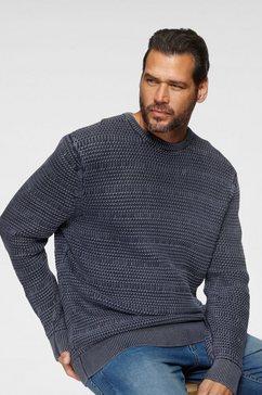 man's world gebreide trui blauw