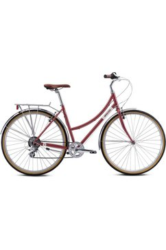 breezer bikes »downtown ex st« trekkingfiets rood