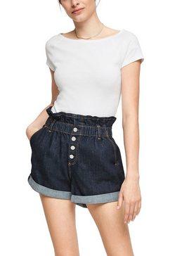q-s designed by shirt met carmenhals met raglanmouwen wit