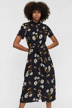 vero moda midi-jurk vmmellie zwart