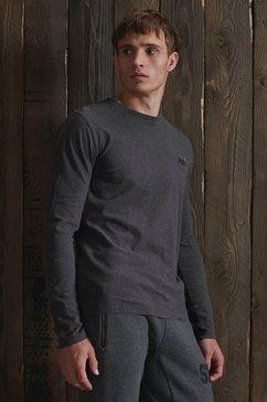 superdry shirt met lange mouwen »ol vintage emb ls top« grijs