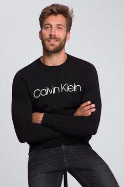 calvin klein sweatshirt cotton logo sweatshirt zwart