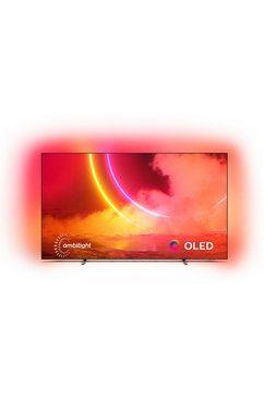 "philips oled-tv 55oled805-12, 139 cm - 55 "", 4k ultra hd, smart-tv grijs"