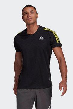 adidas performance runningshirt own the run 3 stripes running t-shirt zwart