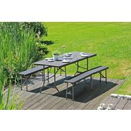 garden pleasure »ventana« tuintafel zwart