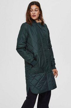 selected femme doorgestikte jas »slfnatalia« groen