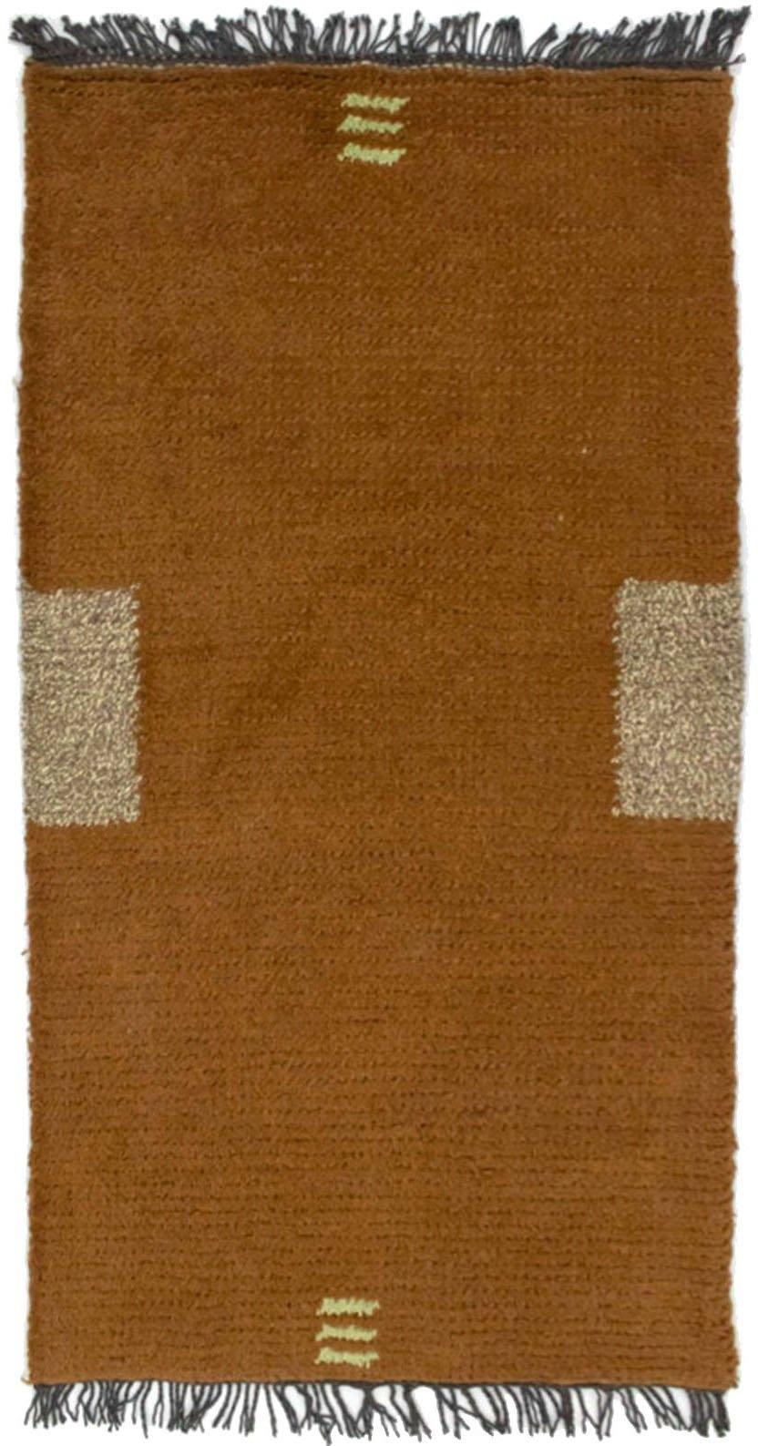 morgenland wollen kleed Nepal Teppich handgeknüpft braun handgeknoopt in de webshop van OTTO kopen