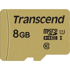 transcend »microsdxc-sdhc 500s« geheugenkaart goud
