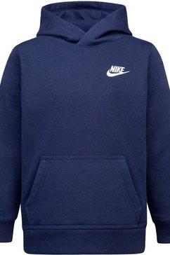 nike sportswear hoodie nkb club fleece po hoodie blauw