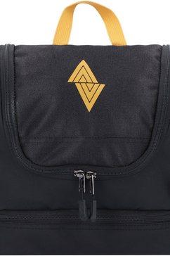 nitro toilettas travel kit, golden black om op te hangen zwart