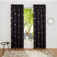 my home gordijn »blackout curtain with foil print star«