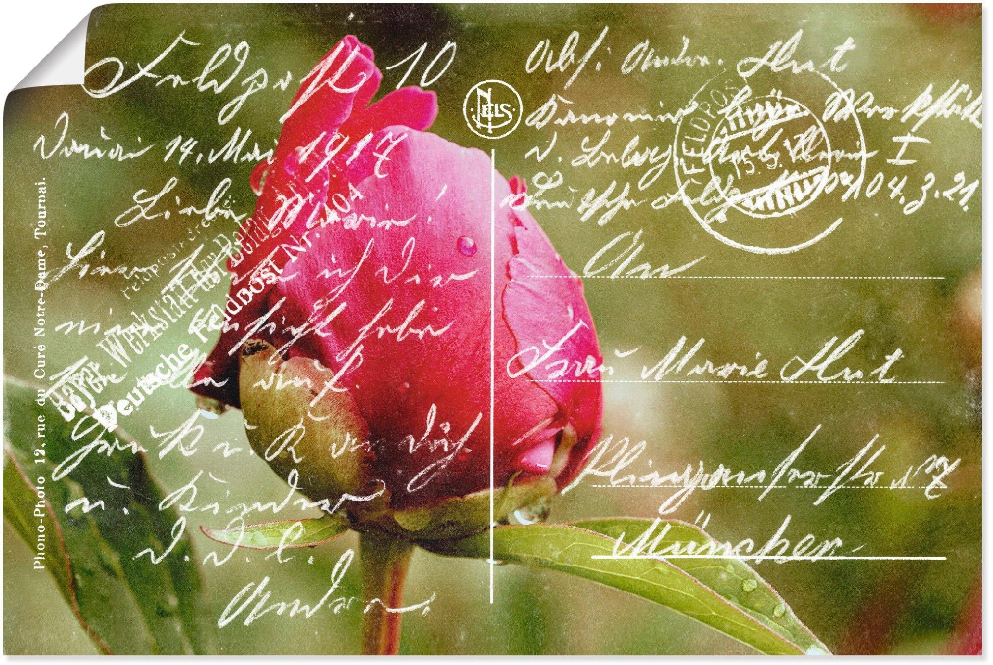 Artland artprint Veldpost 1917 in vele afmetingen & productsoorten - artprint van aluminium / artprint voor buiten, artprint op linnen, poster, muursticker / wandfolie ook geschikt voor de badkamer (1 stuk) nu online kopen bij OTTO