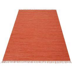 ecorepublic home vloerkleed handgeweven uni oranje