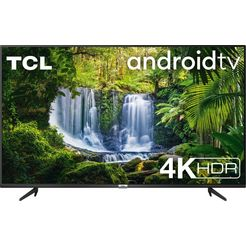 "tcl led-tv 55p616x1, 139 cm - 55 "", 4k ultra hd, smart-tv, android 9.0-besturingssysteem zwart"