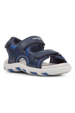 geox kids sandalen jr sandal pianeta b met zacht verdikte binnenzool blauw