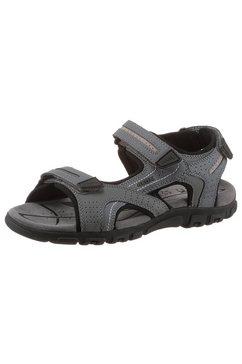 geox sandalen uomo sandal strada met drie klittenbandsluitingen grijs