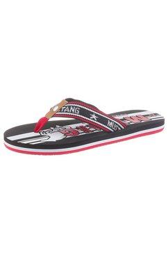 mustang shoes teenslippers zwart