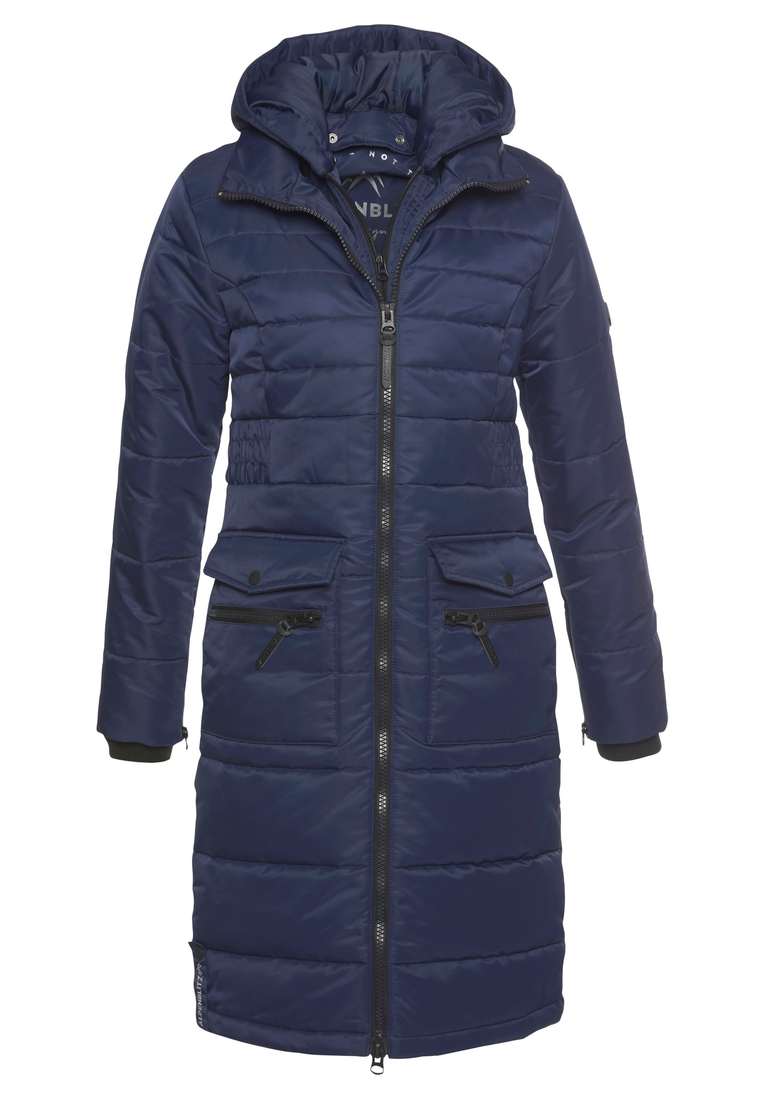 ALPENBLITZ winterjack Jakarta long Lange gewatteerde jas met een afneembare capuchon en grote, opgestikte zakken bij OTTO online kopen