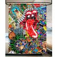 sanilo douchegordijn graffiti hoogte 200 cm multicolor