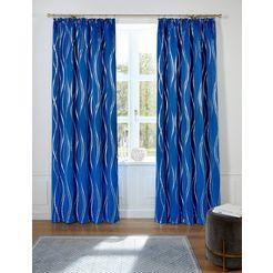 gordijn, »prag«, guido maria kretschmer homeliving, rimpelband per stuk blauw
