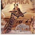 artland wandklok »afrika« bruin