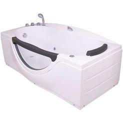 sanotechnik »nassau« whirlpool-badkuip wit