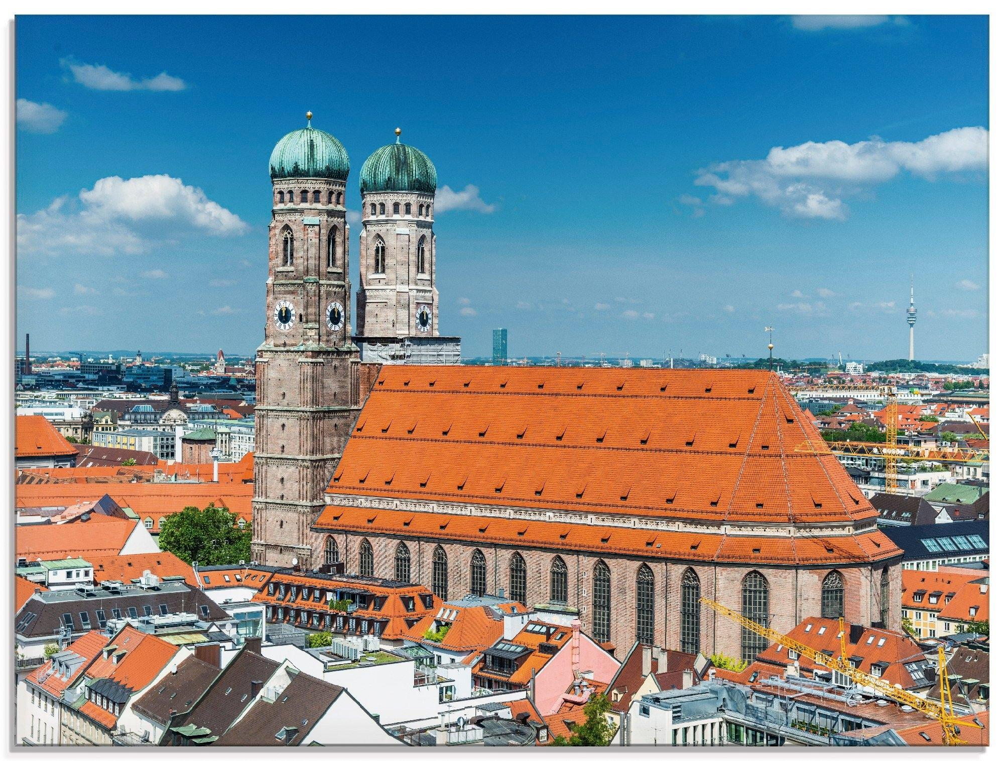 Artland print op glas München Frauenkirche (1 stuk) voordelig en veilig online kopen