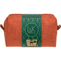 »lk - travel bag« lichaamsverzorgingsset groen
