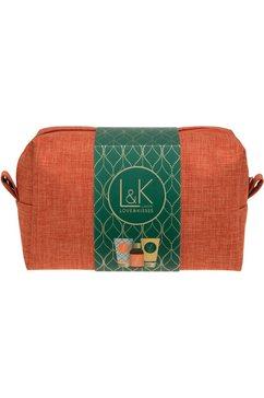 set voor huidverzorging lk - travel bag (4-delig) groen
