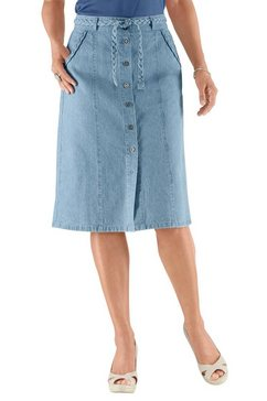 casual looks jeansrok blauw