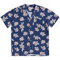 quiksilver hawaï-overhemd mystic sessions viscose blauw