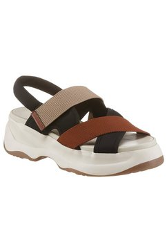 vagabond plateausandalen essy in chunky-look bruin