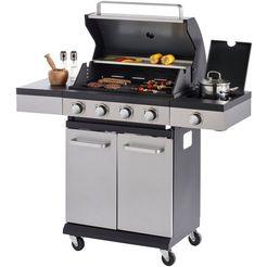 konifera gasbarbecue »milano«, bxdxh: 120x44x114,5 cm zilver